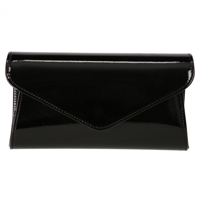 Plic elegant negru din piele saffiano lac, model 08 [1]