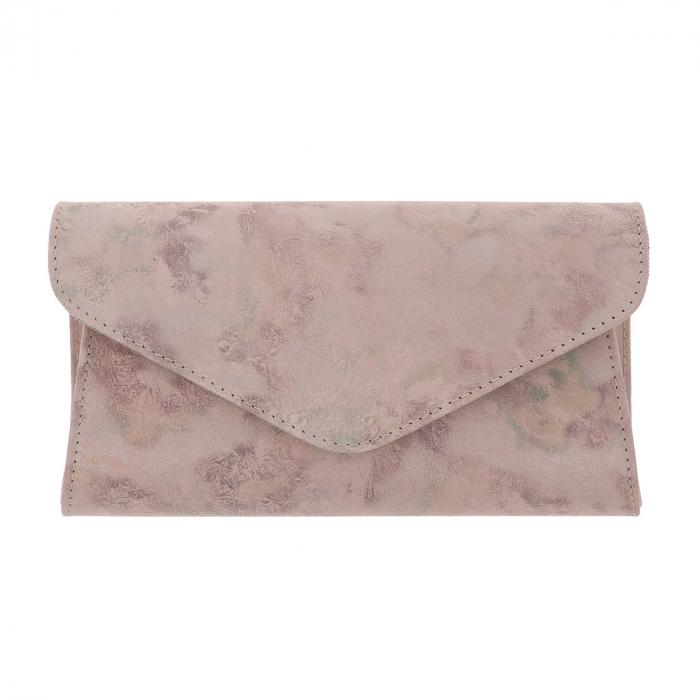Plic elegant roz pudra abstract din piele intoarsa, model 08 [1]