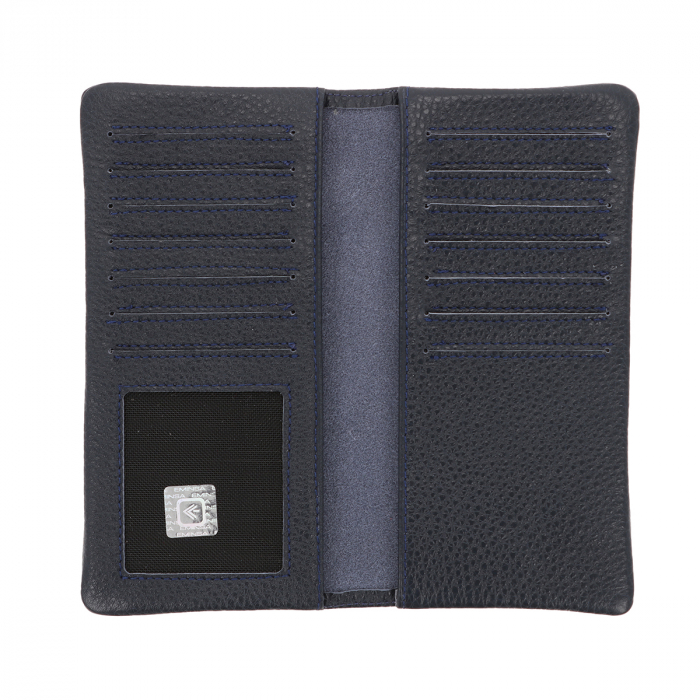 Port carduri din piele naturala moale, bleumarin, model Eminsa 1119 [2]