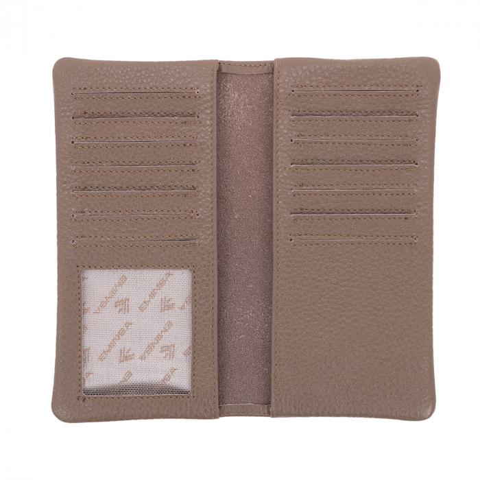 Port carduri din piele naturala moale, nisipiu, model Eminsa 1119 [2]