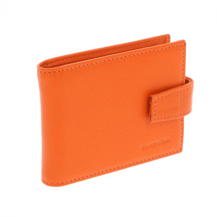 Port carduri din piele naturala portocaliu, model 1517 [2]