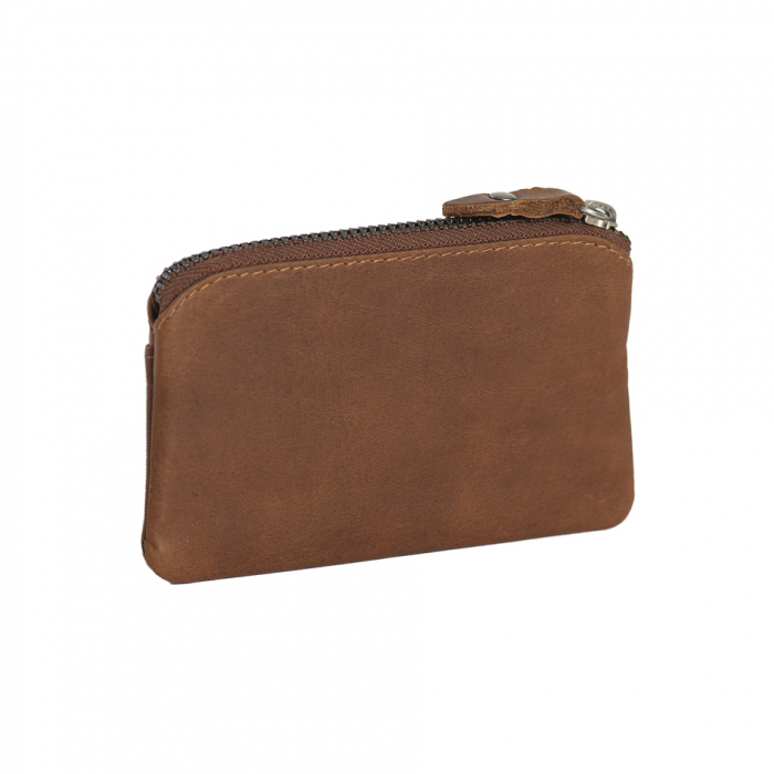 Port chei din piele naturala, The Chesterfield Brand, Oliver, cu protectie anti scanare RFID, Maro coniac [1]