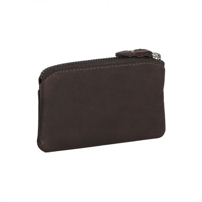 Port chei din piele naturala, The Chesterfield Brand, cu protectie anti scanare RFID, Oliver, Maro inchis [4]