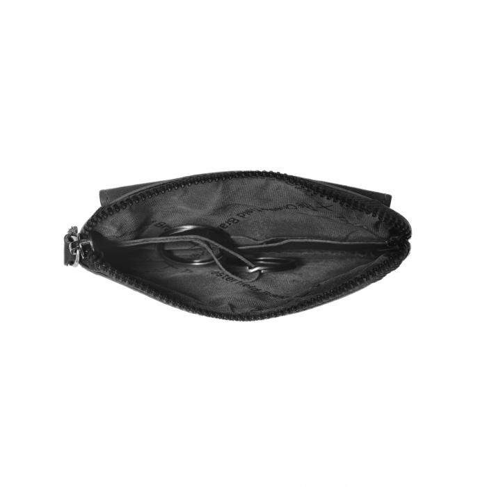 Port chei din piele naturala, The Chesterfield Brand, Oliver, cu protectie anti scanare RFID, Negru [3]