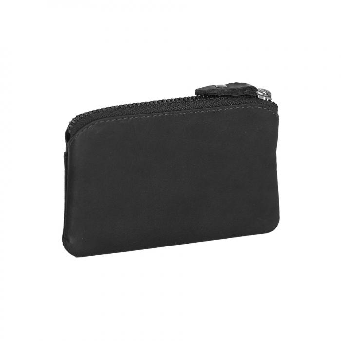 Port chei din piele naturala, The Chesterfield Brand, Oliver, cu protectie anti scanare RFID, Negru [1]