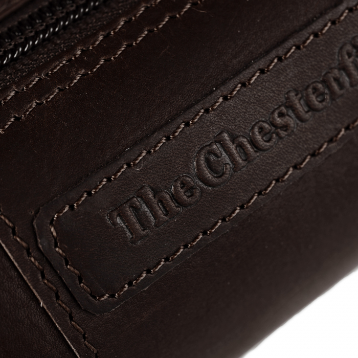 Port stilou, The Chesterfield Brand, din piele naturala, Mossley, Maro inchis [3]
