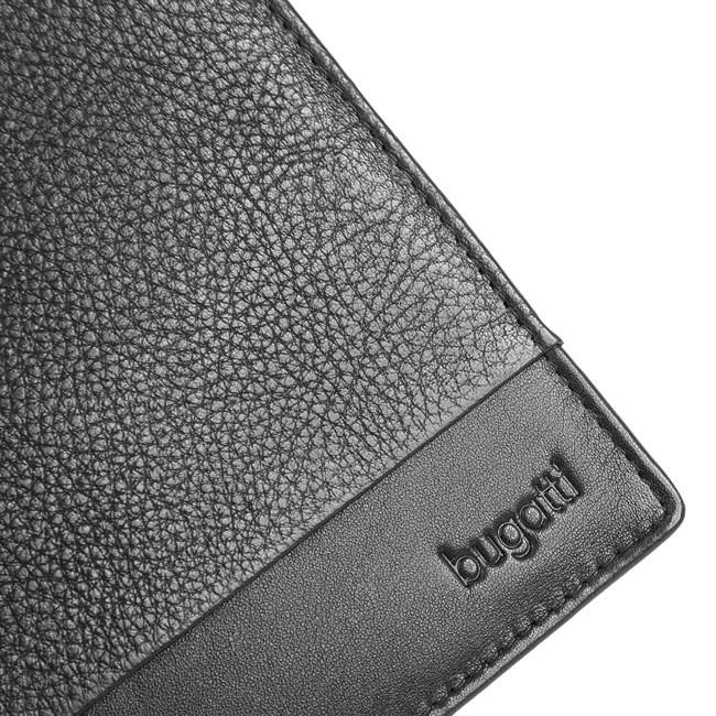 Portofel barbati, Bugatti Atlanta negru, piele naturala moale [5]