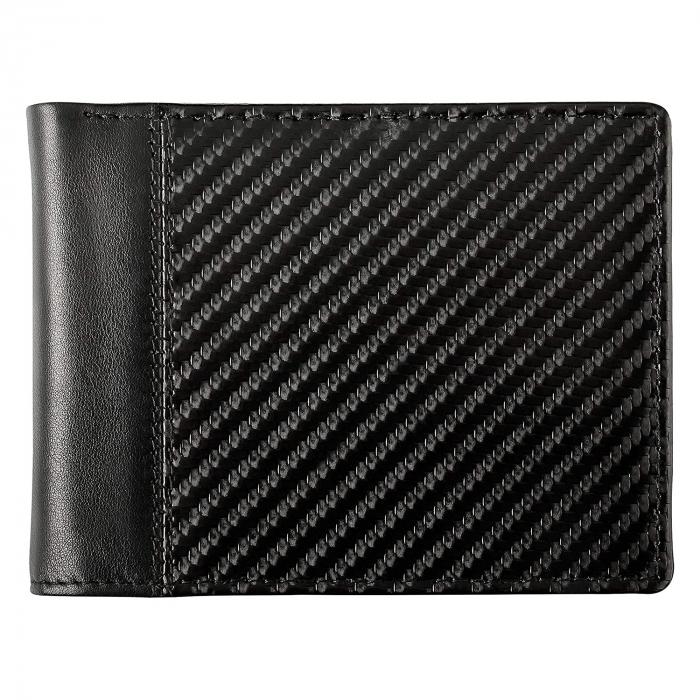 Portofel barbati Bugatti, cu protectie anti scanare RFID, piele naturala neagra, model Comet S [5]