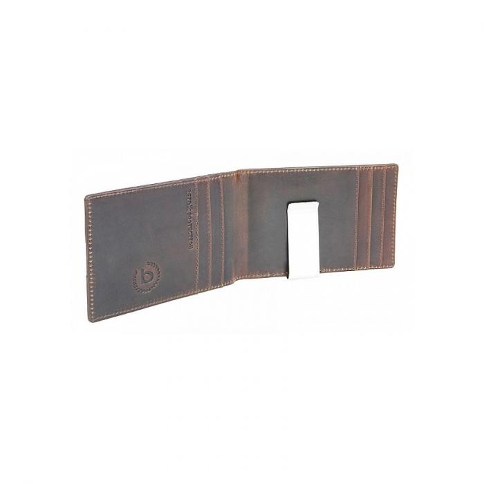 Portofel barbati din piele naturala, Bugatti, Romano, cu protectie anti scanare RFID, Maro inchis [2]