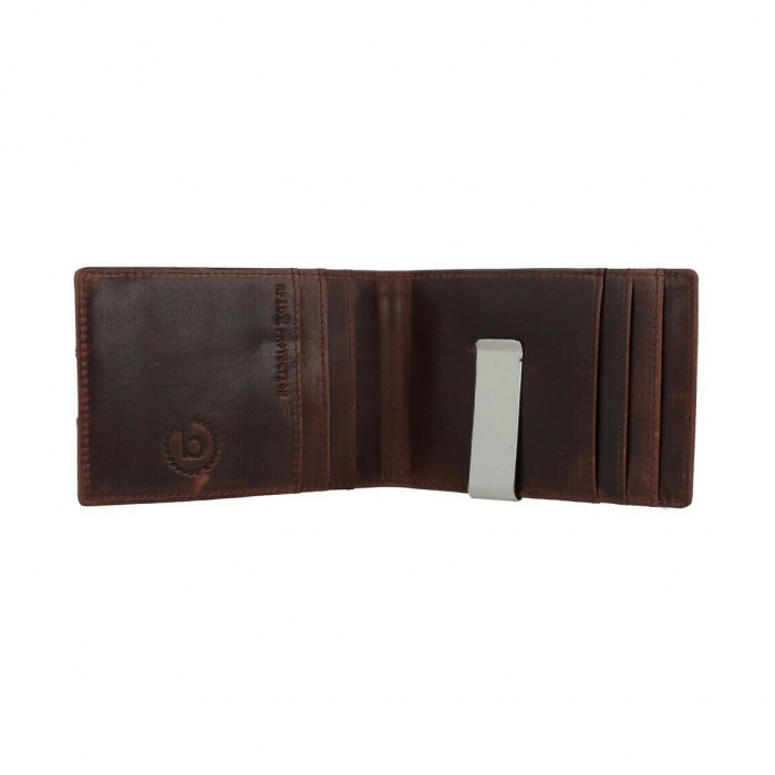 Portofel barbati din piele naturala, Bugatti, Romano, cu protectie anti scanare RFID, Maro inchis [3]