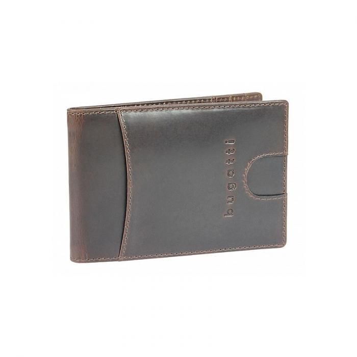 Portofel barbati din piele naturala, Bugatti, Romano, cu protectie anti scanare RFID, Maro inchis [0]