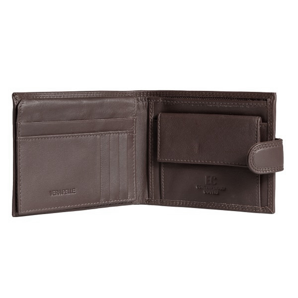 Portofel barbati din piele naturala, Coveri, model 298, Maro brun [1]