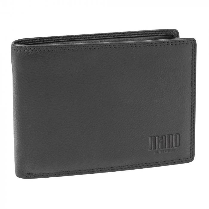 Portofel barbati din piele naturala, Mano, model M19013, Negru [0]