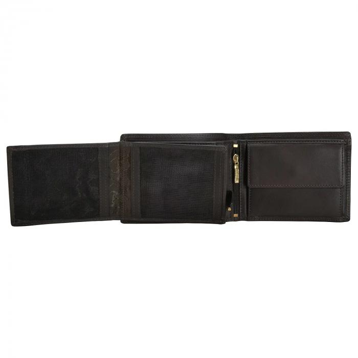 Portofel barbati din piele naturala, Mano, model M19015, Maro inchis [3]