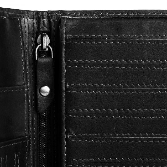 Portofel barbati din piele naturala, The Chesterfield Brand, Daan, cu protectie anti scanare RFID, Negru [3]