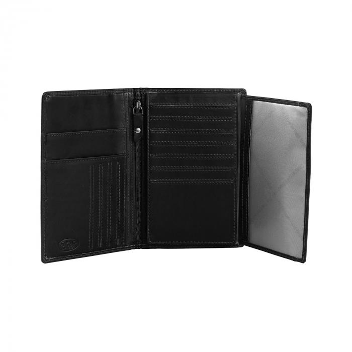 Portofel barbati din piele naturala, The Chesterfield Brand, Daan, cu protectie anti scanare RFID, Negru [2]