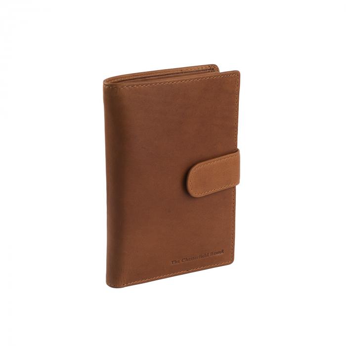 Portofel barbati din piele naturala, The Chesterfield Brand, Drake, cu protectie anti scanare RFID, Maro coniac [0]