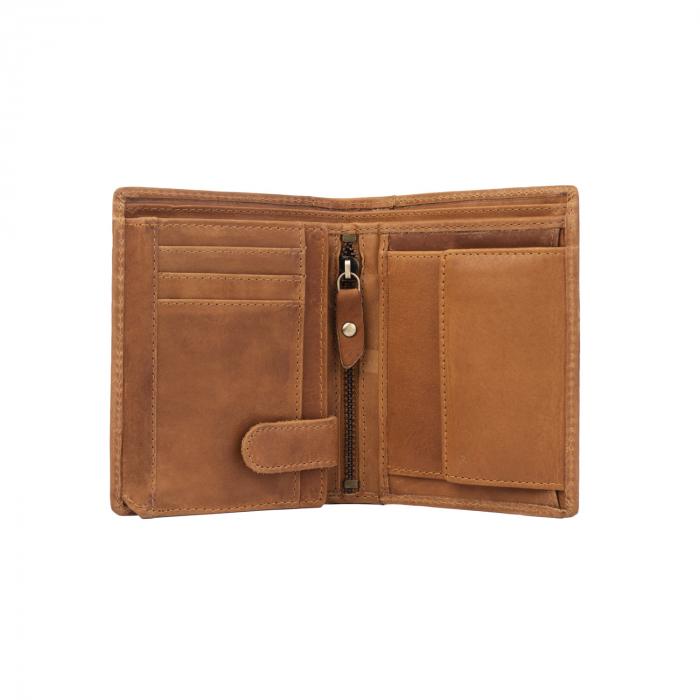 Portofel barbati din piele naturala, The Chesterfield Brand, Ethel, cu protectie anti scanare RFID, Maro coniac [2]