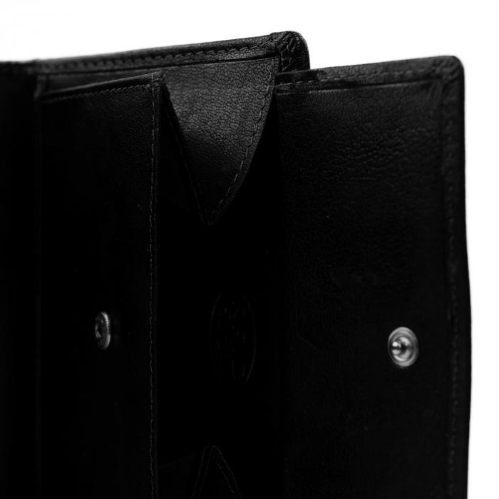Portofel barbati din piele naturala, The Chesterfield Brand, Hamburg, cu protectie anti scanare RFID, Negru [2]