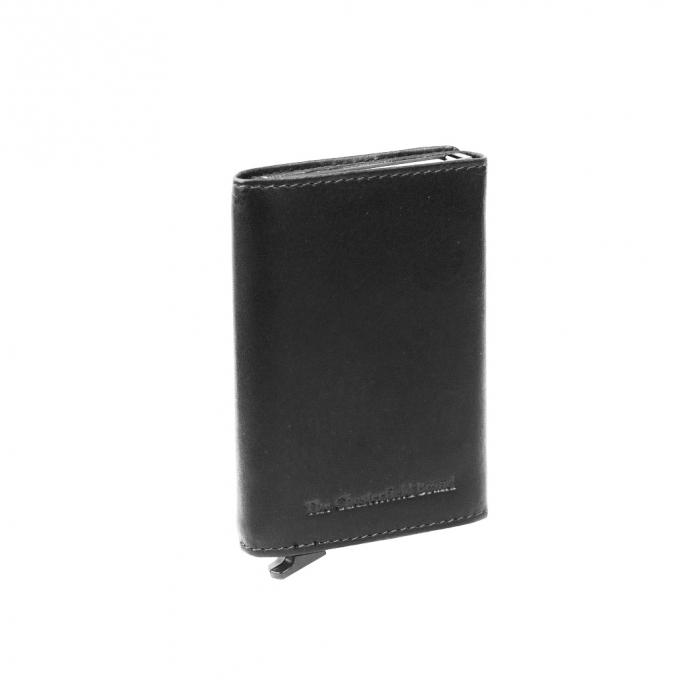 Portofel unisex cu suport pentru carduri, din piele naturala, The Chesterfield Brand, Lancaster, cu protectie anti scanare RFID, Negru [0]