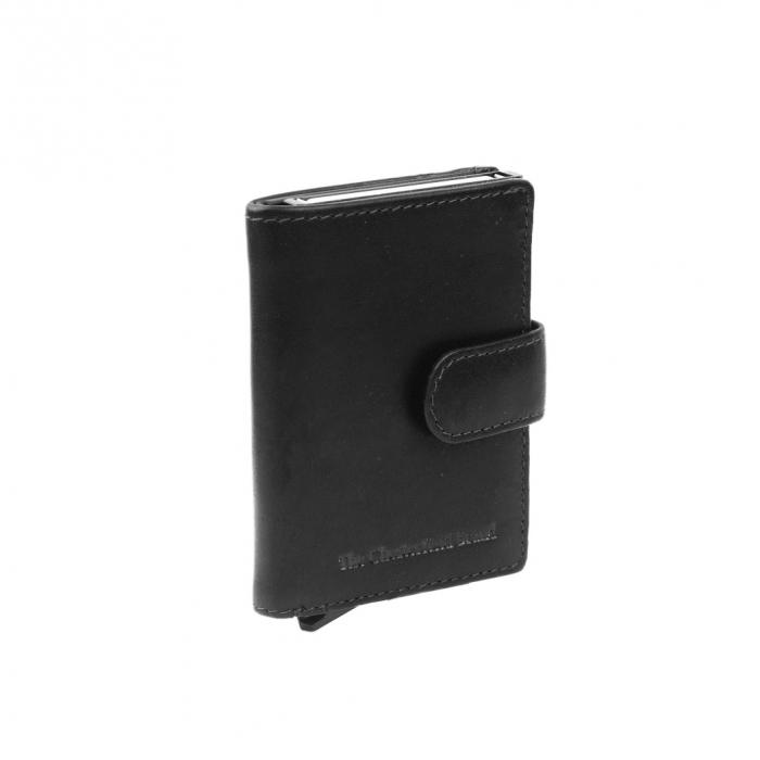 Portofel unisex cu suport pentru carduri, din piele naturala, The Chesterfield Brand, Loughton, cu protectie anti scanare RFID, Negru [0]