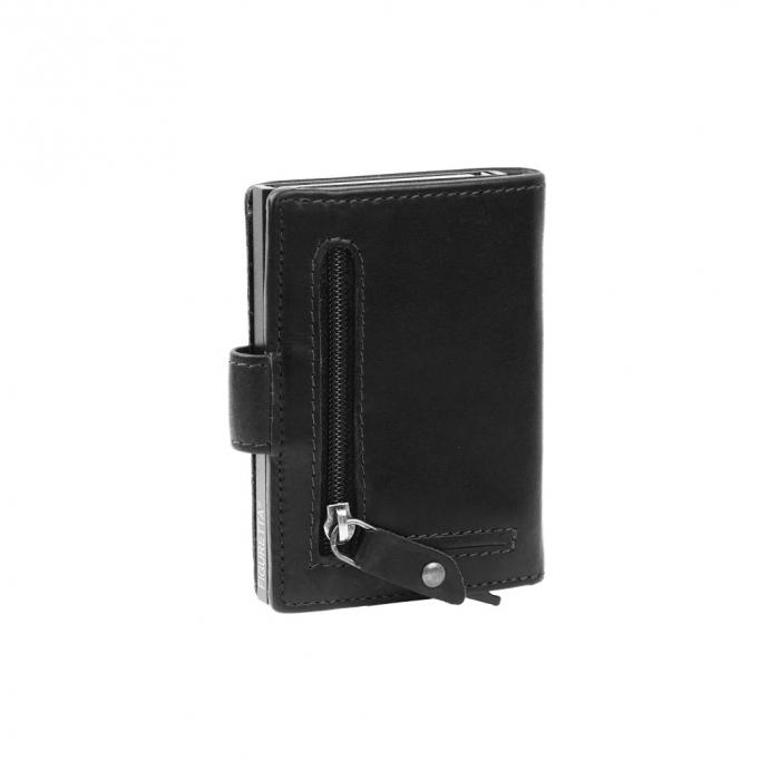 Portofel unisex cu suport pentru carduri, din piele naturala, The Chesterfield Brand, Loughton, cu protectie anti scanare RFID, Negru [2]
