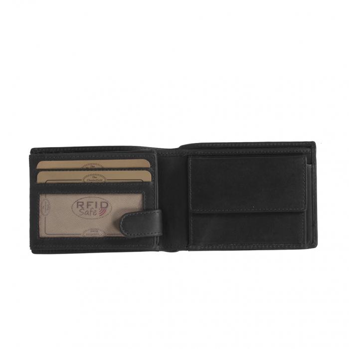 Portofel barbati din piele naturala, The Chesterfield Brand, Marvin, cu protectie anti scanare RFID, Negru [2]