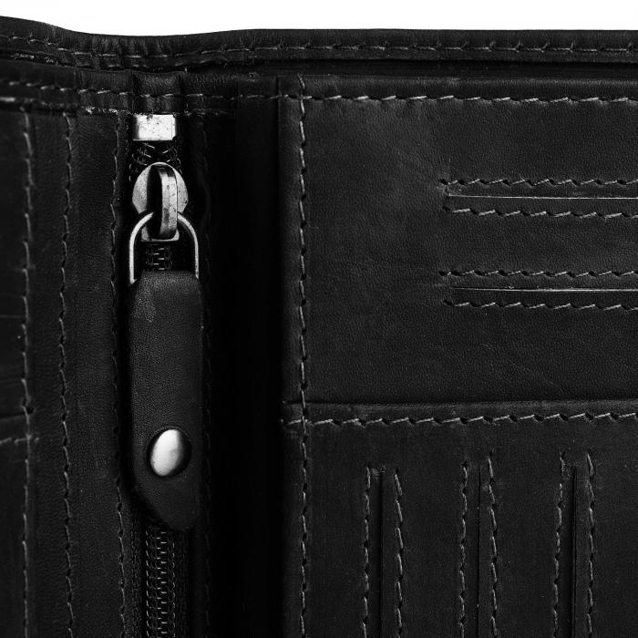 Portofel barbati din piele naturala, The Chesterfield Brand, Owen, cu protectie anti scanare RFID, Negru [3]