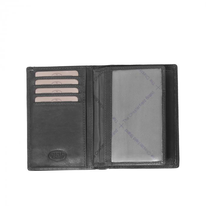 Portofel barbati din piele naturala, The Chesterfield Brand, Siem, cu protectie anti scanare RFID, Negru [3]