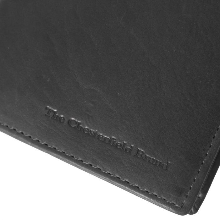 Portofel barbati din piele naturala, The Chesterfield Brand, Siem, cu protectie anti scanare RFID, Negru [4]