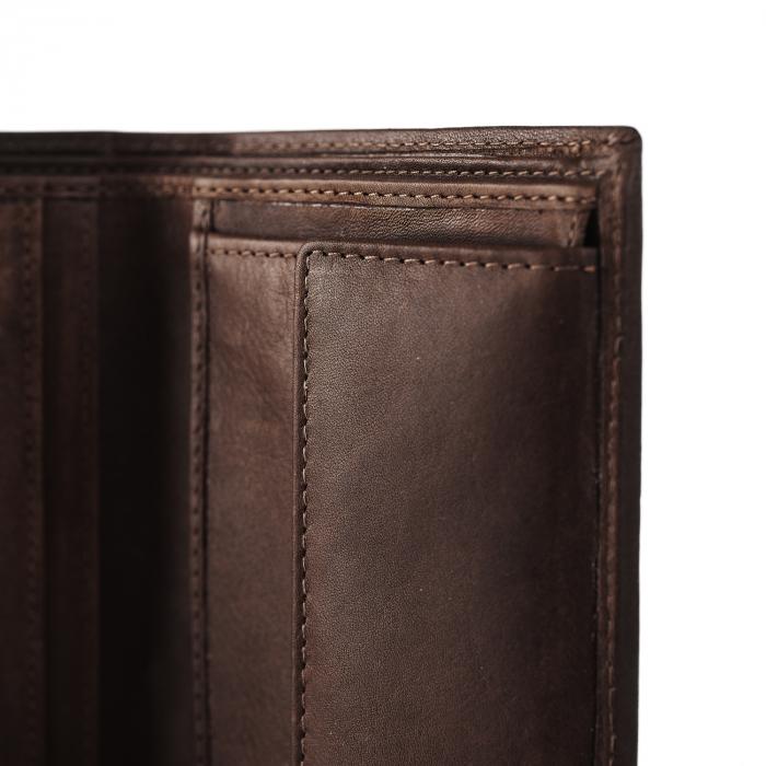 Portofel barbati din piele naturala, The Chesterfield Brand, Tymon, cu protectie anti scanare RFID, Maro inchis [3]