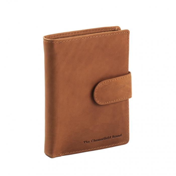 Portofel barbati, The Chesterfield Brand, cu protectie anti scanare RFID, din piele naturala, Ruby, Maro coniac [0]