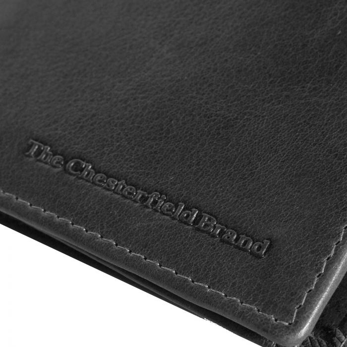 Portofel barbati, The Chesterfield Brand, cu protectie anti scanare RFID, din piele naturala, Martin, Negru [3]