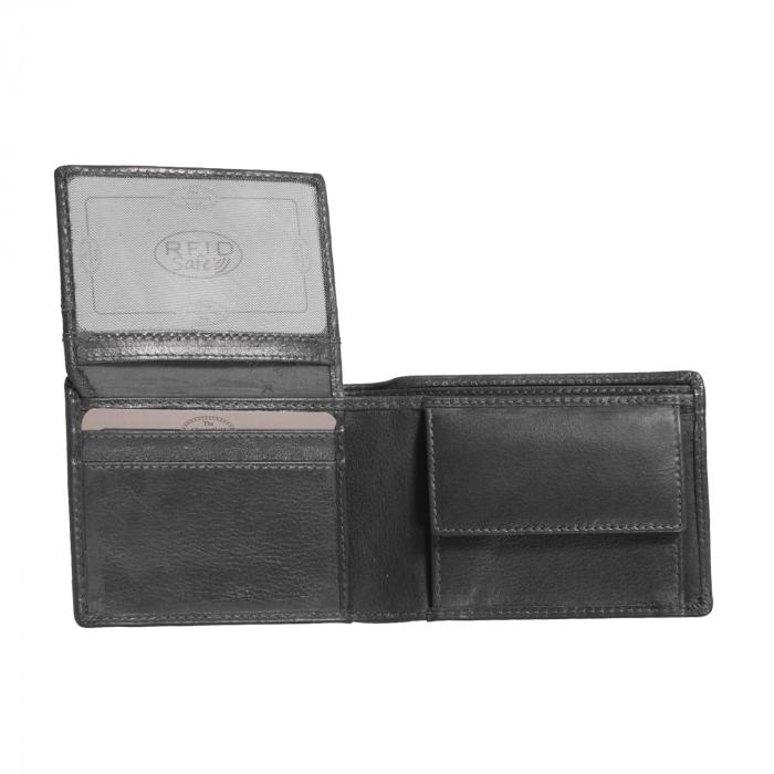 Portofel barbati, The Chesterfield Brand, cu protectie anti scanare RFID, din piele naturala, Martin, Negru [1]