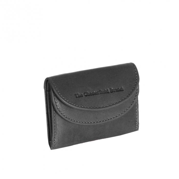 Portofel dama din piele naturala, The Chesterfield Brand, Alma, cu protectie anti scanare RFID, Negru [0]