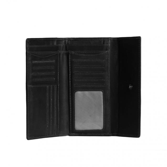 Portofel dama din piele naturala, The Chesterfield Brand, Dahlia, cu protectie anti scanare RFID, Negru [1]