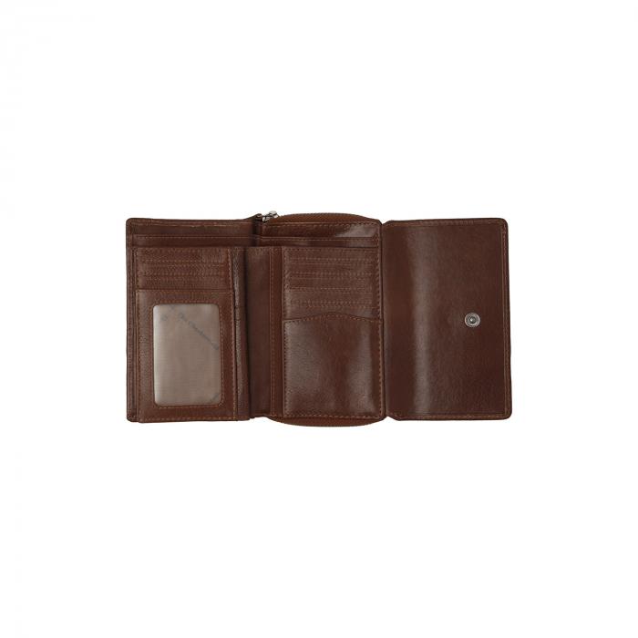 Portofel dama din piele naturala, The Chesterfield Brand, Hagen, cu protectie anti scanare RFID, Maro coniac [2]