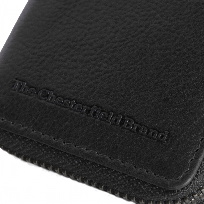 Port carduri din piele naturala, The Chesterfield Brand, cu protectie anti scanare RFID, Jim, Negru [5]