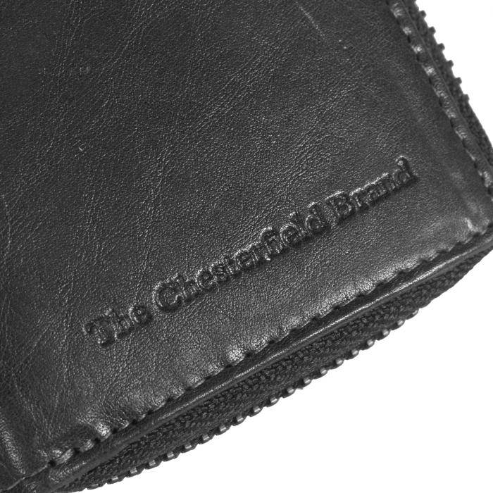 Port carduri din piele naturala, The Chesterfield Brand, cu protectie anti scanare RFID, Jim, Negru [4]