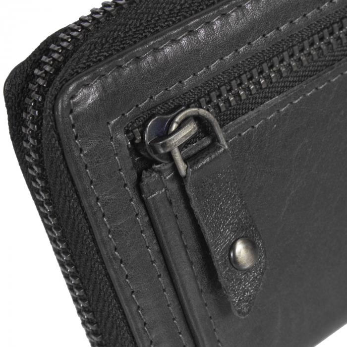 Port carduri din piele naturala, The Chesterfield Brand, cu protectie anti scanare RFID, Jim, Negru [2]