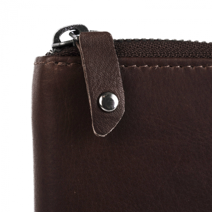 Portofel dama din piele naturala, The Chesterfield Brand, Melany, cu protectie anti scanare RFID, Maro inchis [2]