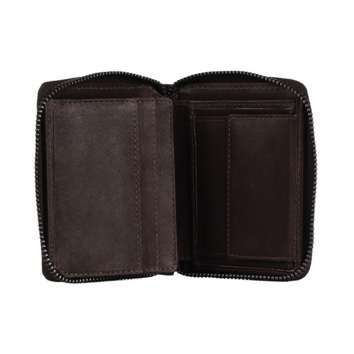 Portofel dama din piele naturala, The Chesterfield Brand, Melany, cu protectie anti scanare RFID, Maro inchis [3]