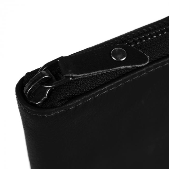 Portofel dama din piele naturala, The Chesterfield Brand, Merel, cu protectie anti scanare RFID, Negru [3]
