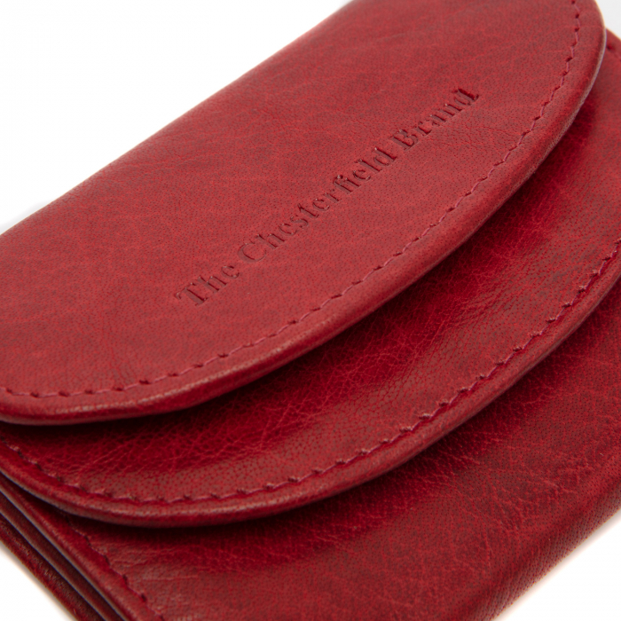 Portofel dama din piele naturala, The Chesterfield Brand, Newton, cu protectie anti scanare RFID, Rosu [4]