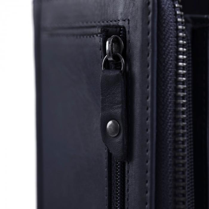 Portofel dama, The Chesterfield Brand, cu protectie anti scanare RFID, din piele naturala, Nova, Bleumarin [2]