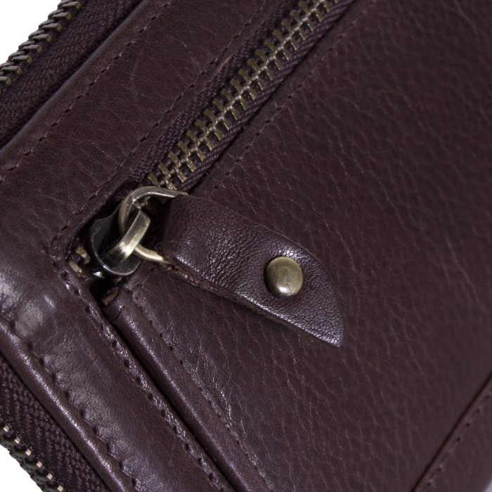 Portofel dama, The Chesterfield Brand, cu protectie anti scanare RFID, din piele naturala maro inchis, Bridget [3]