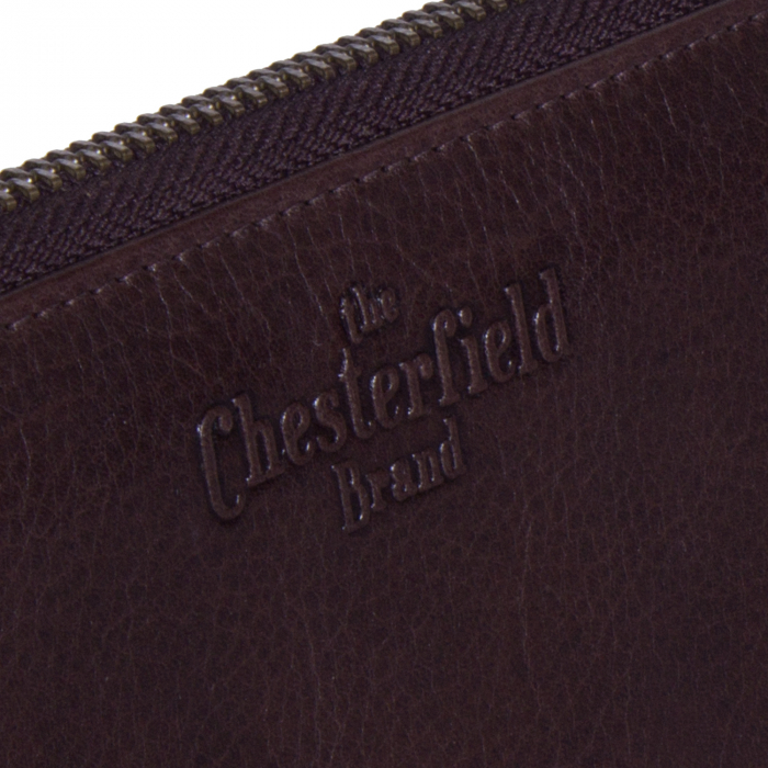 Portofel dama, The Chesterfield Brand, cu protectie anti scanare RFID, din piele naturala maro inchis, Bridget [4]