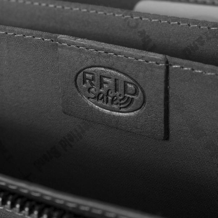 Portofel dama, The Chesterfield Brand, cu protectie anti scanare RFID, din piele naturala, Mirthe, Negru [6]