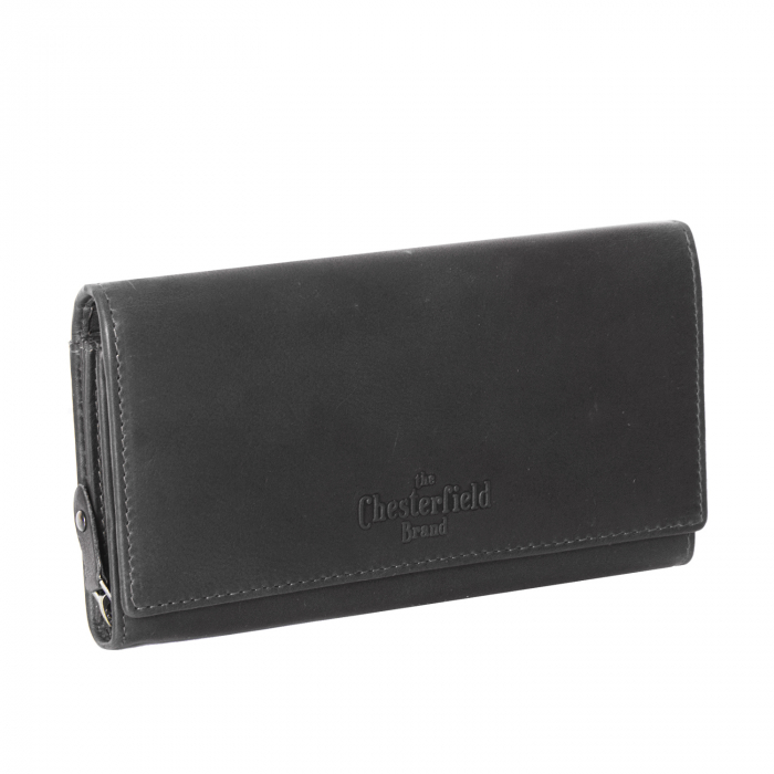 Portofel dama, The Chesterfield Brand, cu protectie anti scanare RFID, din piele naturala, Mirthe, Negru [0]
