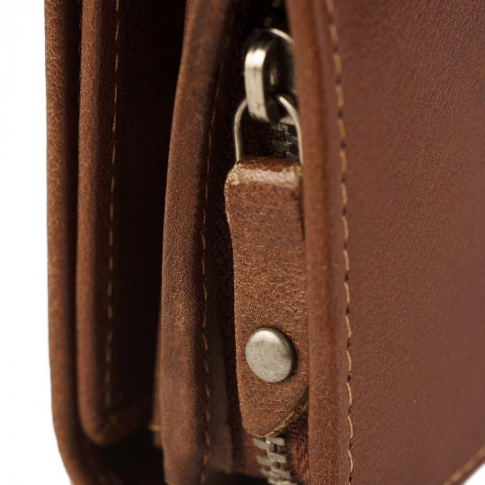 Portofel dama, The Chesterfield Brand, cu protectie anti scanare RFID, din piele naturala neagra, Aileen [18]